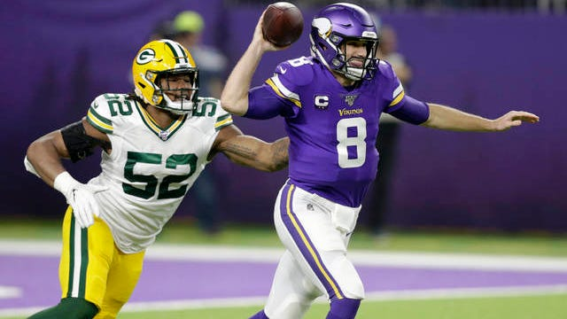Kirk Cousins (8) will make his first postseason road start Sunday as the Minnesota Vikings visit the New Orleans Saints in NFC Wild Card play.