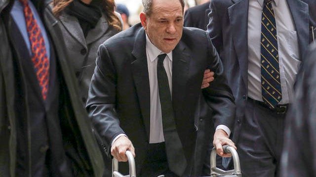 Harvey Weinstein arrives at federal court on Monday in New York. The disgraced movie mogul faces allegations of rape and sexual assault. Jury selection begins this week.