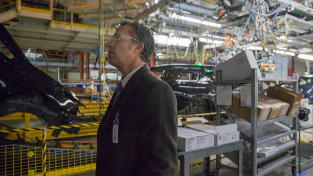 Maury County Mayor Andy Ogles tours the General Motors facility in Spring Hill on Jan. 24, 2019.