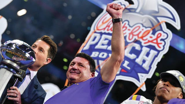 When Ed Orgeron and LSU take the field Monday night against Clemson in the CFP Championship Game, it will have been 16 days since either team last played. LSU throttled Oklahoma 63-28 on Dec. 28, the same day that Clemson rallied past Ohio State 29-23, in the national semifinals.