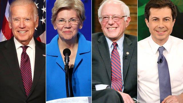 Democratic candidates Joe Biden, Elizabeth Warren, Bernie Sanders and Pete Buttigieg have been leading in the polls in Iowa.