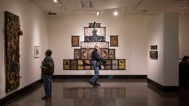Works from Visionary Aponte: Art and Black Freedom hang on display at the Vanderbilt University Fine Arts Gallery in Nashville on Thursday, Jan. 8, 2020.