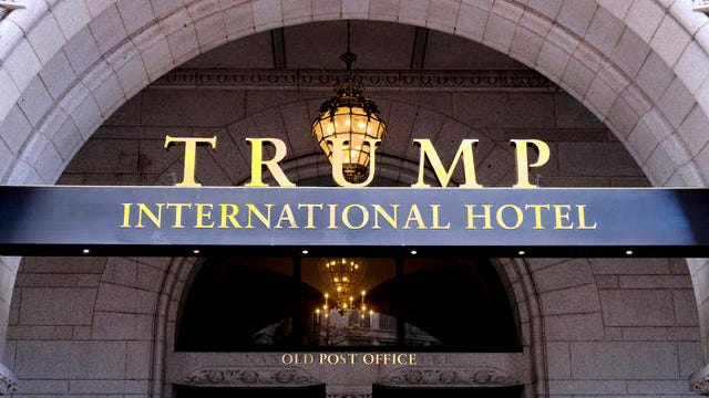This March 11, 2019 file photo, shows the north entrance of the Trump International in Washington D.C.