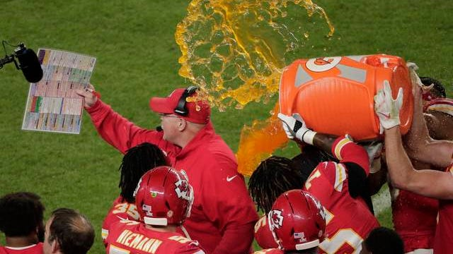 Andy Reid, receiving the obligatory Gatorade bath at the conclusion of the Kansas City Chiefs' 31-20 Super Bowl LIV win Sunday over the San Francisco 49ers, could be in position for another in a year. After advancing to the AFC Championship a year ago, the Chiefs are well placed to make yet another postseason run in 2020.