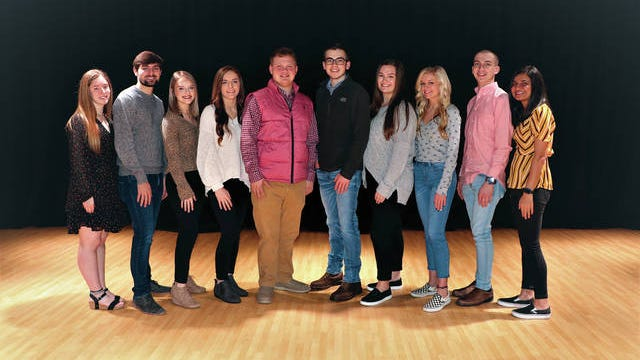 Mt. Pleasant High School announces its Top 10 for the Class of 2020. The top graduates include, from left, Maddie Staggs (valedictorian), Andrew Grooms (salutatorian), Kimmy Bridges (No. 3), Leah Vitrano (No. 4), Elijah White (No. 5), Clark Hill (No. 6), Ava Baker (No. 7), Callie Johnson (No. 8), Nick Renfro (No. 9) and Krishna Patel (No. 10). The Daily Herald plans to run pictures of the top 10s of all Maury County high schools before graduation.