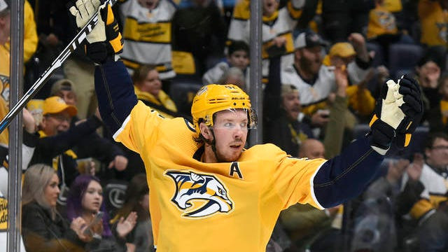 Ryan Johansen's second-period goal was the Nashville Predators' only one Tuesday night, as the visiting Carolina Hurricanes won 4-1 for their fourth straight victory against the Preds at Bridgestone Arena.