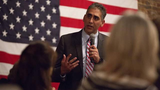 Manny Sethi speaks at a Reagan Day Celebration in Columbia on Thursday, Oct. 3, 2019.
