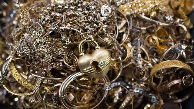 Pieces of gold jewelry.