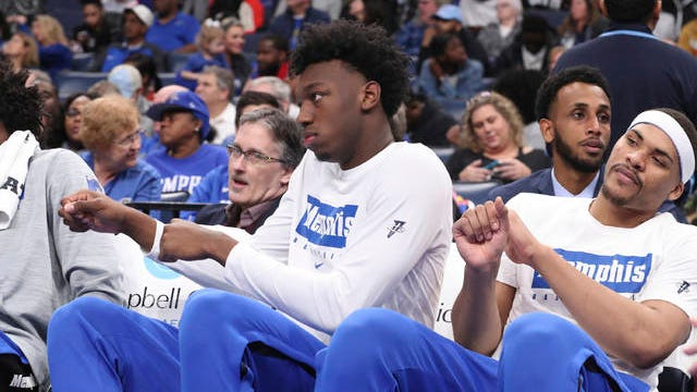 James Wiseman (second from right), who played in just three games for Memphis before being declared ineligible and eventually leaving the team, will be the focal point of the first known case to be heard by the NCAA's Independent Accountability Resolution Process.