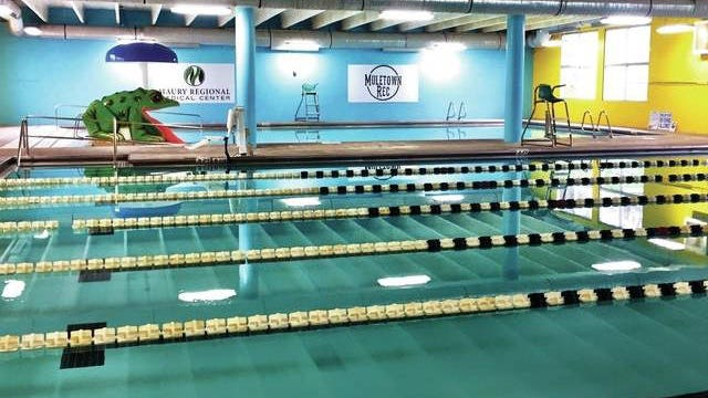 Muletown Rec has two heated indoor pools that are scheduled to close.