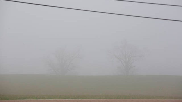 A fog covers Spring Hill on Wednesday, March 11, 2020.