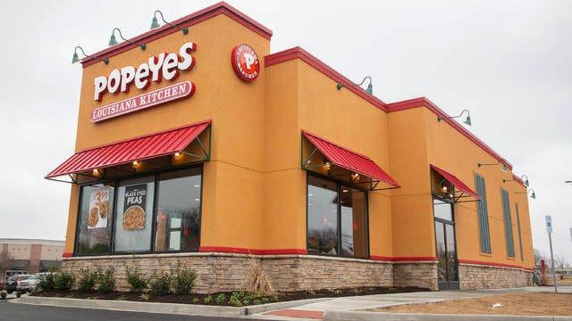 Popeyes Louisiana Kitchen sits off Nashville Highway in Columbia.