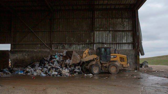 Work continues at the Maury County waste transfer station on Lawson White Drive in Columbia on Thursday March 12, 2020.