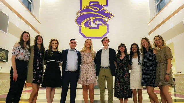 Columbia Central High School announces its Top 10 for the Class of 2020. The top graduates include, from left: Merideth Coffie (No. 10), Maxine Marczak (No. 8), Ginger Morrow (No. 6), Chandler Michael (No. 4), salutatorian Gretta Hammond, valedictorian Cooper Baxter, Sarah Lowe (No. 3), Himani Patel (No. 5), Kayla Brown (No. 7) and Chesney Bulington (No. 9). The Daily Herald plans to run pictures of the top 10s of all Maury County high schools before graduation. Mt. Pleasant High School's Top 10 appeared in the Feb. 13 edition of the newspaper; Culleoka on Feb. 19; Hampshire on Feb. 23; Spring Hill on Feb. 26; Santa Fe on March 6 and Zion Christian Academy on March 11.