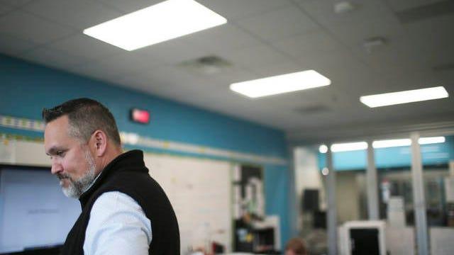 Maury County Public Schools Superintendent Chris Marczak leads a third-grade class at Battle Creek Elementary School on Tuesday, Oct. 29, 2019.