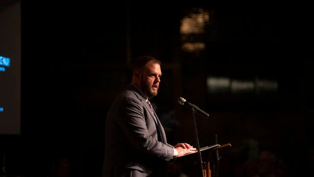 Maury County Chamber and Economic Alliance President Wil Evans speaks at the annual Maury County Chamber and Economic Alliance banquet in Columbia on Thursday, Jan. 30, 2020.