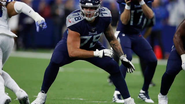 Former Tennessee Titans offensive tackle Jack Conklin agreed to a three-year, $42 million contract Monday with the Cleveland Browns as free agency opened.