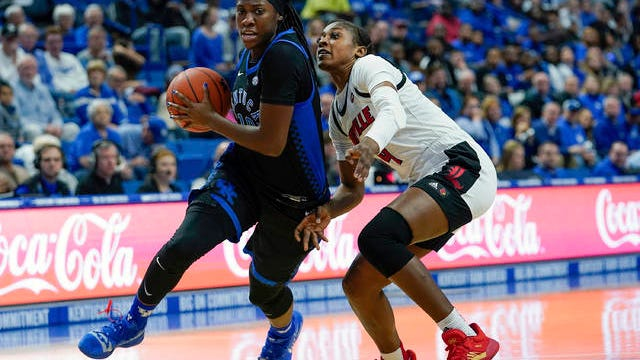 Rhyne Howard is the first Kentucky women's basketball player to earn first-team all-America honors. The sophomore guard from Cleveland, Tenn., joins Baylor's Lauren Cox, UConn's Megan Walker and Oregon's Sabrina Ionescu and Ruthy Hebard on the Associated Press first team.