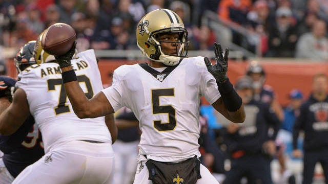 After winning all five of his starts in place of Drew Brees last fall, former New Orleans Saints backup Teddy Bridgewater has signed a three-year, $63 million contract to replace Cam Newton as the Carolina Panthers' starter this fall.