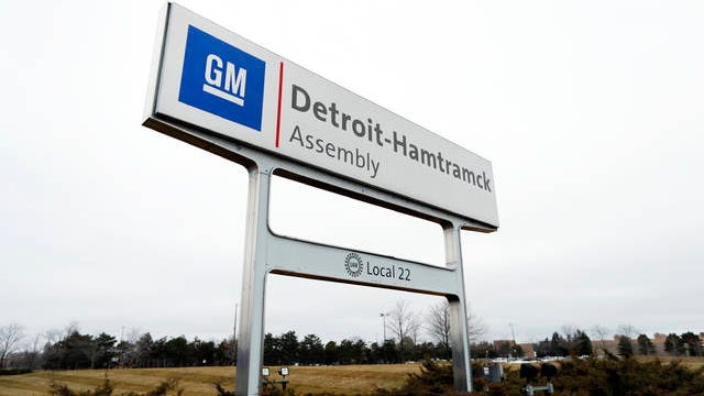 The General Motors Detroit-Hamtramck Assembly plant is shown in Hamtramck, Mich. on Jan. 27.