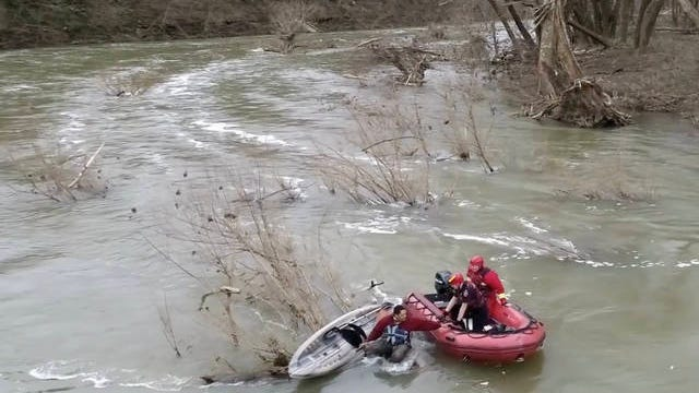 Columbia resident Quivarus Armstrong, 30, needs a rescue after being trapped in debris while kayaking on the Duck River on March 14.