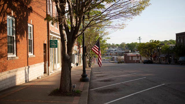 South Main Street is empty of visitors in downtown Columbia on Sunday, April 5, 2020.