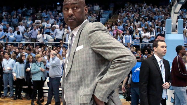 In this March 3 file photo, Wake Forest head coach Danny Manning leaves the court after the team lost to North Carolina in an NCAA college basketball game in Chapel Hill, N.C. On Saturday, Wake Forest announced it has fired Manning after six seasons in which the Demon Deacons had a winning record only once.