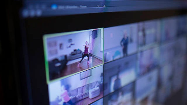 Columbia Dance Academy instructor Mary Ruth Isbell hosts a ballet class held through the Zoom conferencing service on Tuesday, May 5, 2020.