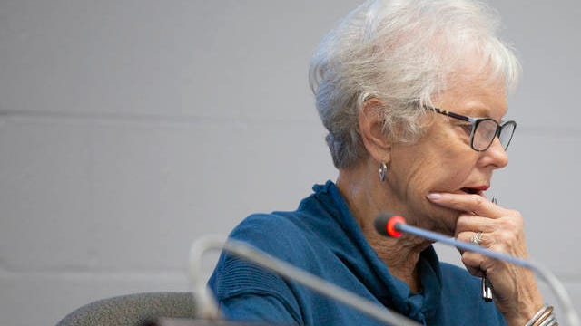 Maury County School Board Chair Bettye Kinser leads a board meeting at Horace O. Porter School in Columbia on Wednesday, March 11, 2020.