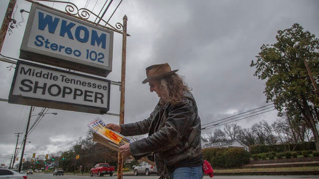 George Hamilton V, host of the Viva! NashVegas Radio Show and The Drive South Radio Show, stands near the WKOM building on West 7 Street in Columbia after hosting a broadcast on Friday, Jan. 5, 2018.