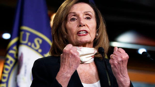 House Speaker Nancy Pelosi of Calif., speaks during a news conference on Capitol Hill in Washington on Thursday.