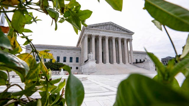 The Supreme Court is seen in Washington early Monday.