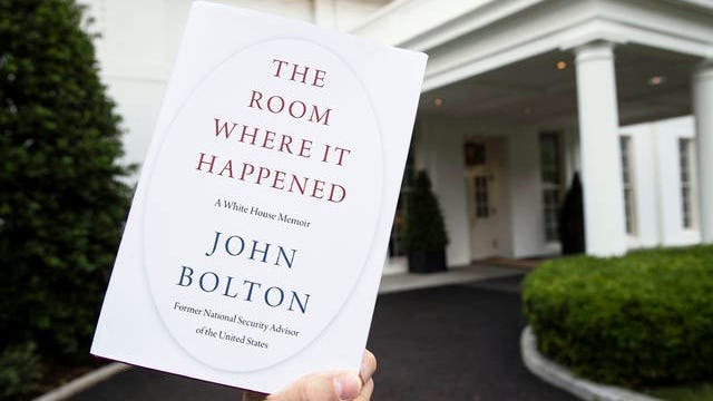 """A copy of """"The Room Where It Happened,"""" by former national security adviser John Bolton, is photographed at the White House on June 18 in Washington."""
