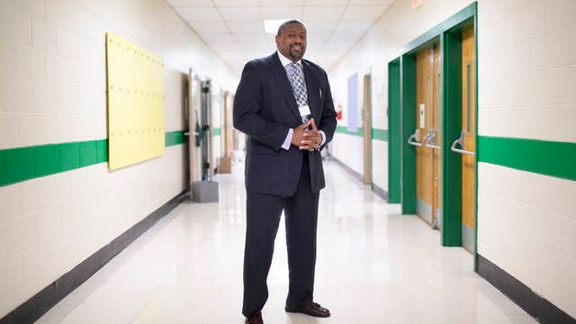 Outgoing Maury County Assistant Superintendent of Academics Ron Woodard stands inside the hallway of McDowell Elementary School in Columbia, Tenn., on Tuesday, June 23, 2020.