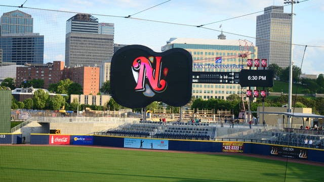 The Nashville Sounds play at First Horizon Park downtown.