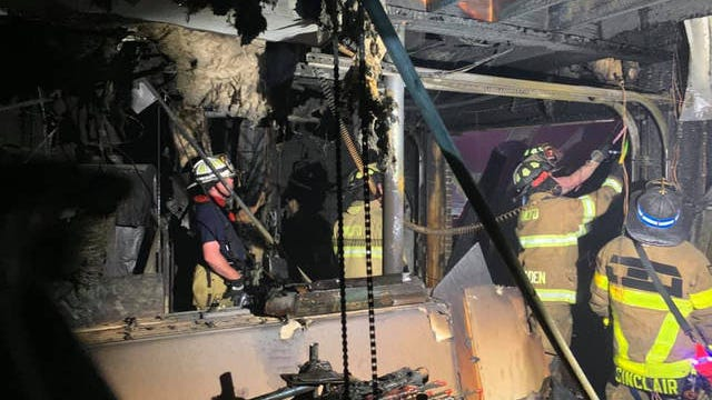 Members of the Maury County Fire Department responded to a burning home at 10:33 p.m. Saturday on Clara Mathis Road in the northeastern corner of the county.