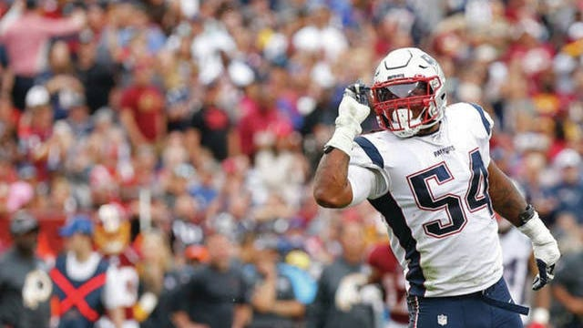 Former Marshall County High standout Dont'a Hightower celebrates a sack for the New England Patriots.