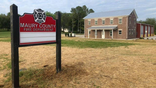 Maury County Fire Department Station 12 located on Carters Creek Pike now stands completed in northern Maury County.