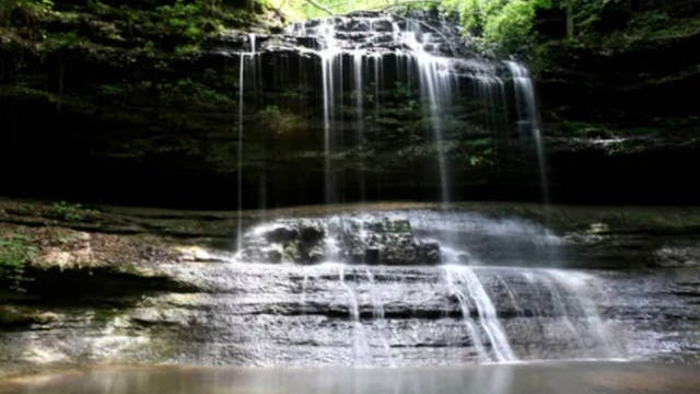 Stillhouse Hollow Falls, with 90 acres, is in Maury County.