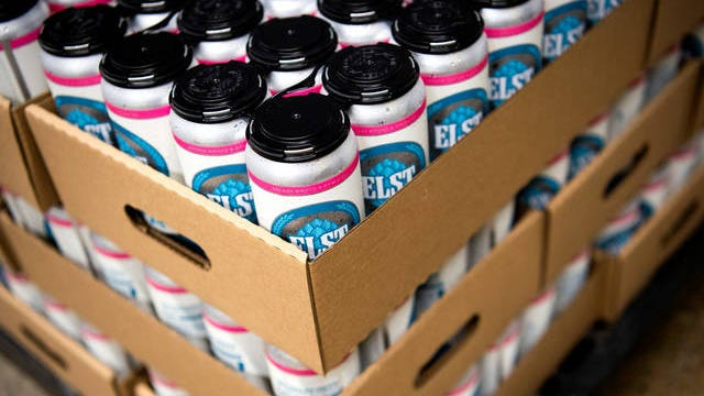 The final product of the canning process at Elst Brewing Company in Knoxville on July 24.