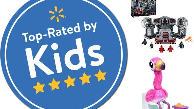 """Walmart released its """"Top Rated by Kids Toy List"""" with """"36 of the hottest toys for the 2020 holiday season"""" tested and selected by kids."""