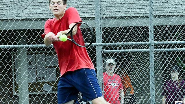 Shown is the new Leavenworth men's singles champion Alex Sherer.