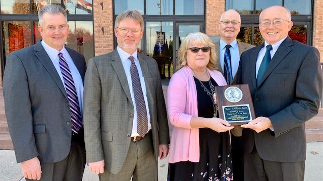 25th Circuit Presiding Judge William Hickle announced its receipt Thursday at the Phelps County Courthouse along with Circuit Clerk Sue Brown, Circuit Judge John Beger and Associate Circuit Judges Mark Calvert and Ken Clayton.