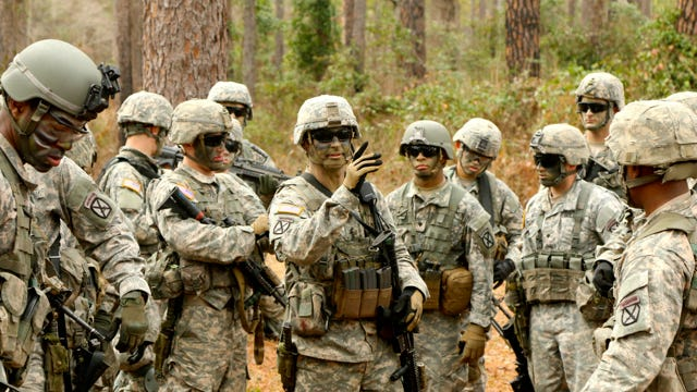 The 2nd Battalion, 4th Infantry Regiment Soldiers conduct a six-mile ruck march to range 6-A Feb. 5, 2015. The ruck and subsequent range qualification is part of an Emergency Deployment Readiness Exercise conducted to ensure the unit is deployment ready at any given time.
