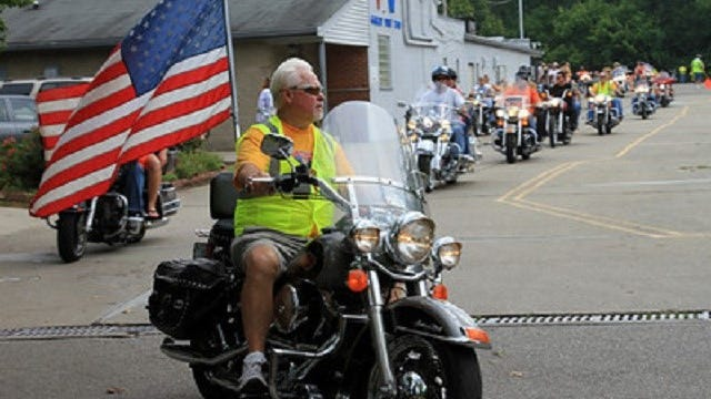 The late Al Rudy, a founding member of the Goodtimers Athletic Club, led the Freedom Ride in 2013. He died the following year. His son Rudy is also a member of the Goodtimers.