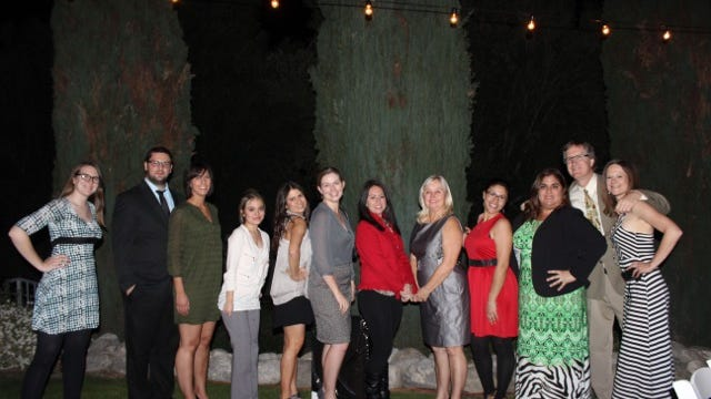 Cielo Vista Charter School teachers take time for a photo at the fourth annual Cielo Vista Charter School Benefit.