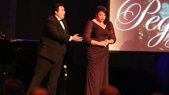From left: Tenor Moises Salazar and soprano Michelle Bradley
