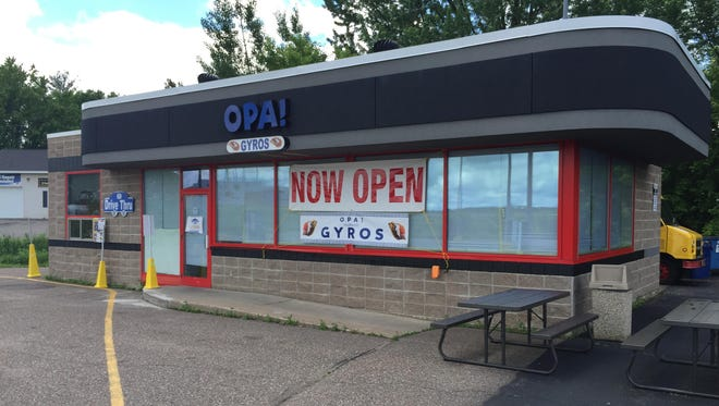 Opa! Gyros, previously located in the Wausau Center, has reopened at a new stand-alone location at 1700 C Business Highway 51 North in Wausau.