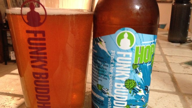 Hop Gun is a tropical style IPA with hops that impart flavors of pineapple, grapefruit and guava.