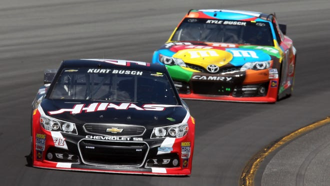 Brothers Kurt Busch (41) and  Kyle Busch (18) both advanced to final eight of the Chase for the Sprint Cup.